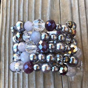 🎁 BNWT Gorg LOFT Faceted Crystal Beaded Bracelet!